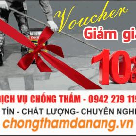 Dịch vụ thi công chống thấm tại Đà Nẵng - Voucher Giảm Giá 10%